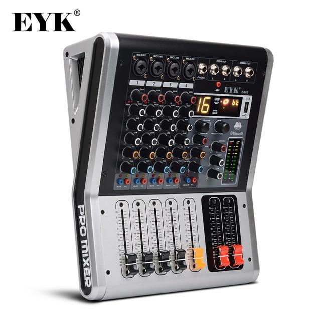 EYK EA40 4 Kanäle Mischen Konsole mit Stumm und PFL Schalter Bluetooth Rekord 3BAND 16 DSP wirkung USB Professional audio Mixer DJ