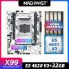 MACHINIST X99 motherboard LGA 2011-3 set kit with Intel xeon E5 4620 V3 processor DDR4 32GB 2666mhz RAM memory VRM FAN M-ATX 1