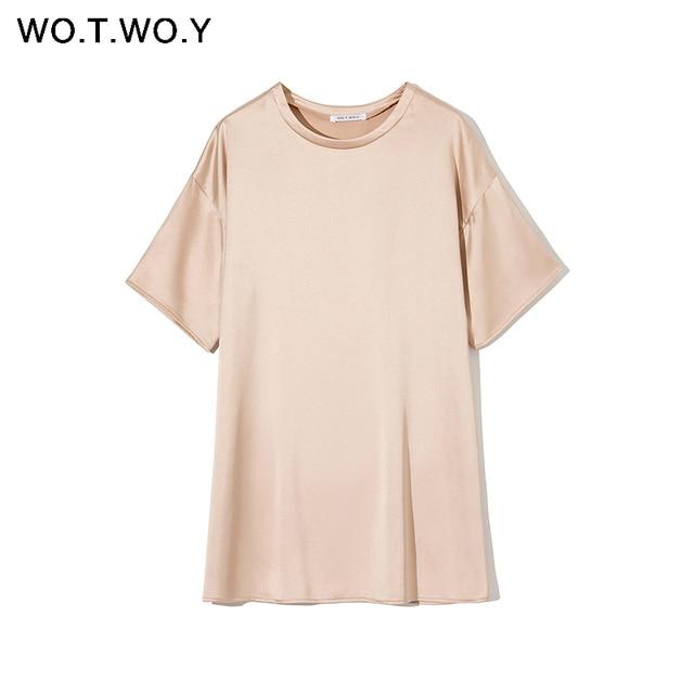 Solid Silk Oversized T-Shirt 4