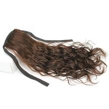 Человеческие волосы конский хвост 16-26 дюймов бразильский конский хвост на заколках remy волосы для наращивания поддельные волосы кудрявый конский хвост