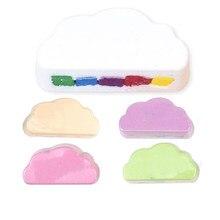 Rainbow sabão nuvem banho sal hidratante esfoliante limpeza corpo pele bolha bombas de banho multicolorido para o bebê