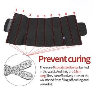 Image 5 - מותניים מאמן הפחתת מעצבי הרזיה גוזם חגורת גוף Shaper Neoprene בטן Shapewear 9 פלדת עצמות אישה Cincher מחוך