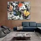 Moderne Mode Freehand Graffiti kunst Senior Hotel Dekoration Abstrakte Leinwand Öl Malerei Poster Wand Bild Kein Rahmen schiff DHL - 3