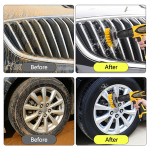 Image 4 - 3Pcs/Set Electric Scrubber Brush Drill Brush Kit Plastic Round Cleaning Brush For Carpet Glass Car Tires Nylon Brushes 2/3.5/4