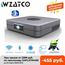 Wzatco d1 dlp 3d projetor 300 polegada cinema em casa suporte completo hd 1920x1080p, 32gb android 5g wifi ac3 vídeo beamer mini projetor