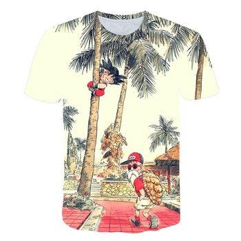 Seven dragon ball T-shirt super Saiya seven Dragon Ball Z DBZ Monkey King kamisetta T-shirt male / female / child boy boy