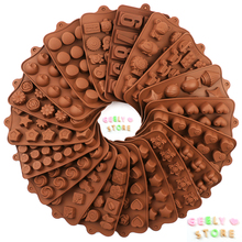 New Silicone Chocolate Mold 29 Shapes baking Tools Non-stick cake mold Jelly and Candy 3D DIY best