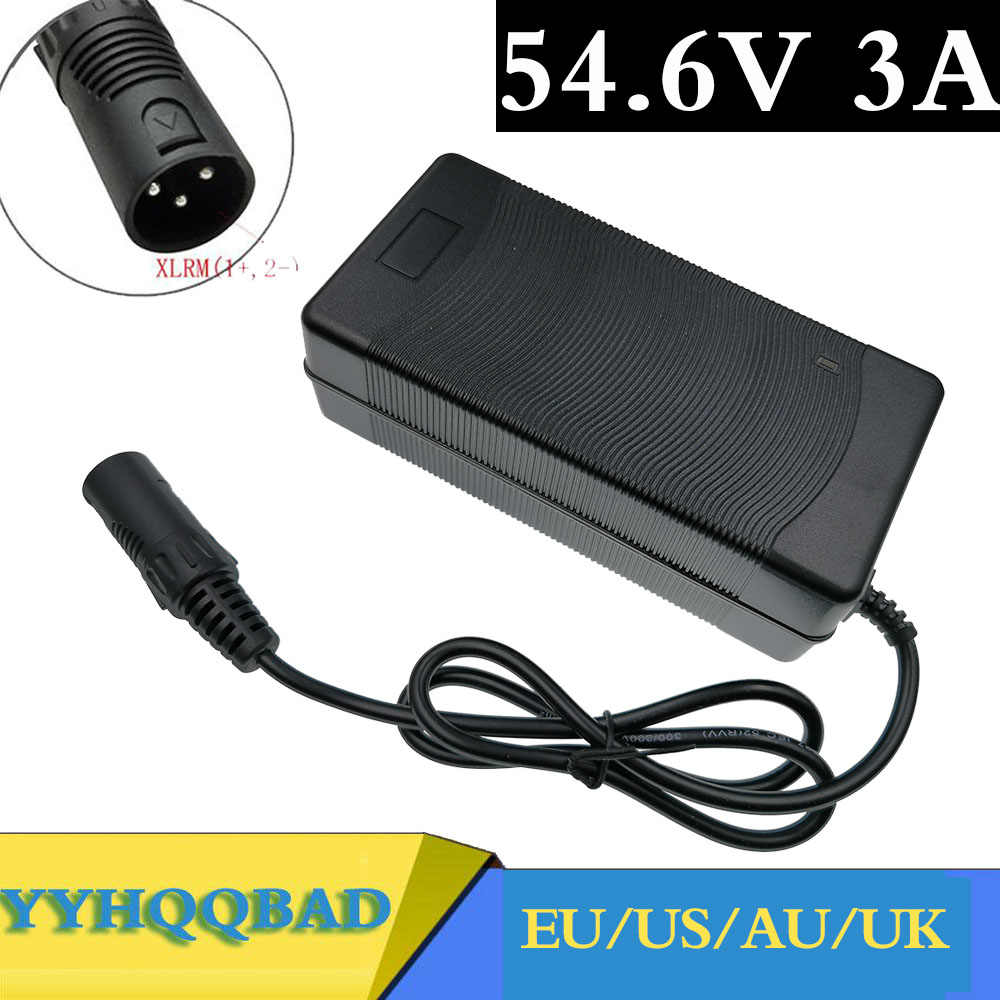 Ebike battery Charger 54.6v 5a XLR Charger for 48v Lithium Ion battery
