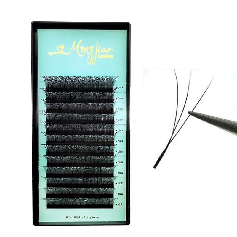 2020 new lashes M&J Clover Eyelash Extension 3D Lashes Premade Volume eye lashes W shape Eyelash Extension wholesale