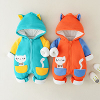 New 2018 baby Winter Clothes Cotton thick Warm Hooded baby jumpsuit Newborn Baby Boy girl Romper children Snowsuit down clothing