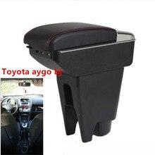 Для Toyota aygo bj подлокотник коробка зарядка через usb повысить двойной слой центральный магазин содержание Подстаканник Пепельница аксессуары