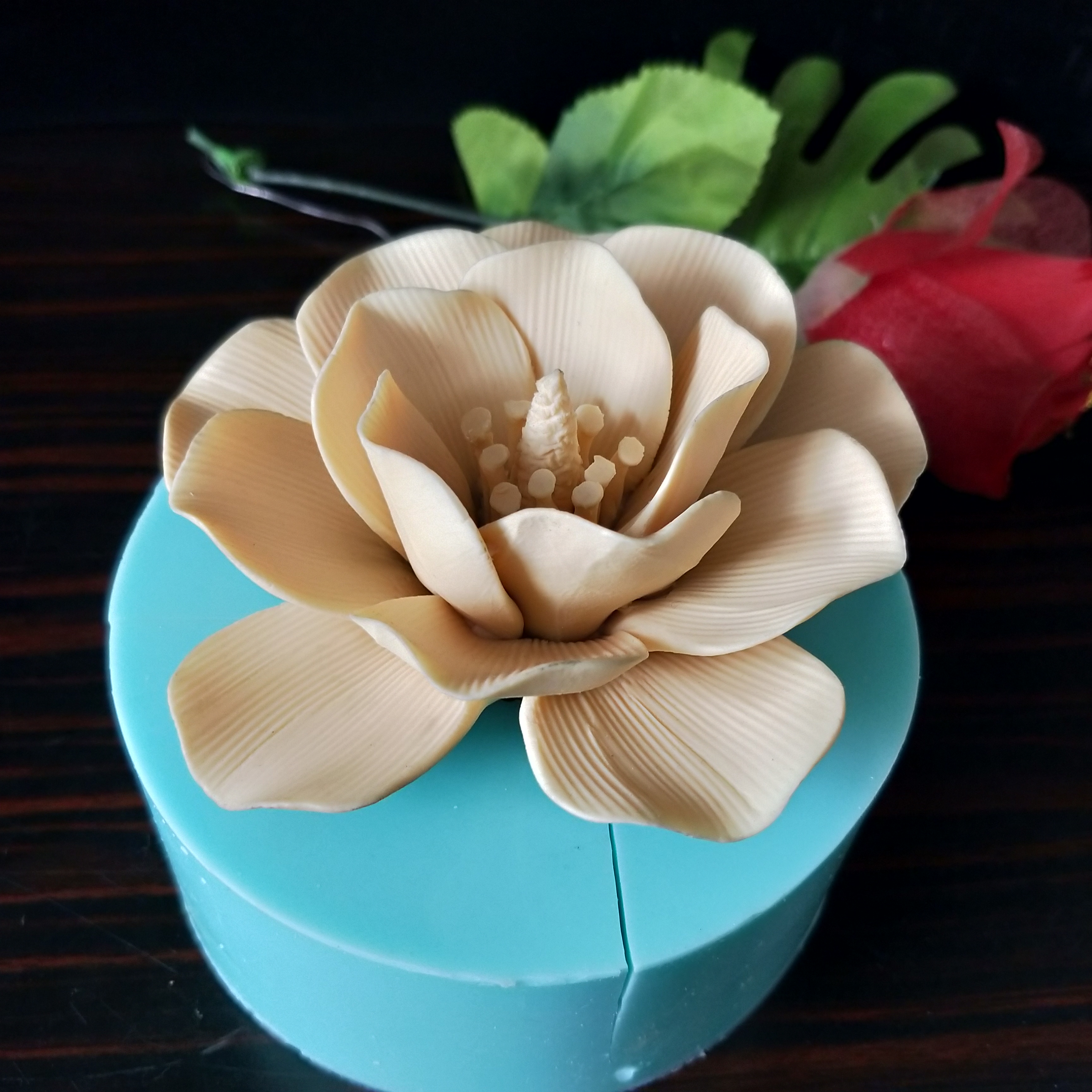 3D Silicone flower mold cake decoration Rose flower shape soap silicone molds cake molds candle aroma stone mould