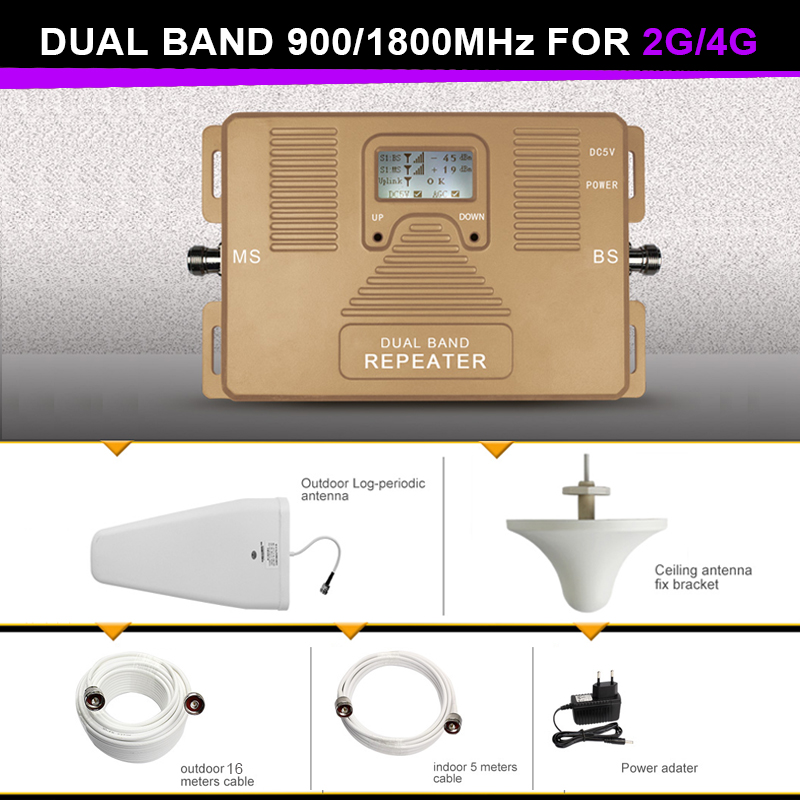 Big Power 900 And 1800mhz 2G 4g Signal Booster Repeater