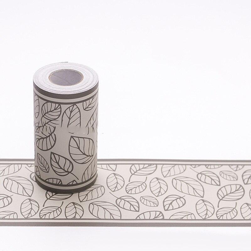 10M Self Adhesive Wall Skirting Border PVC Waterproof/Decor Floral New