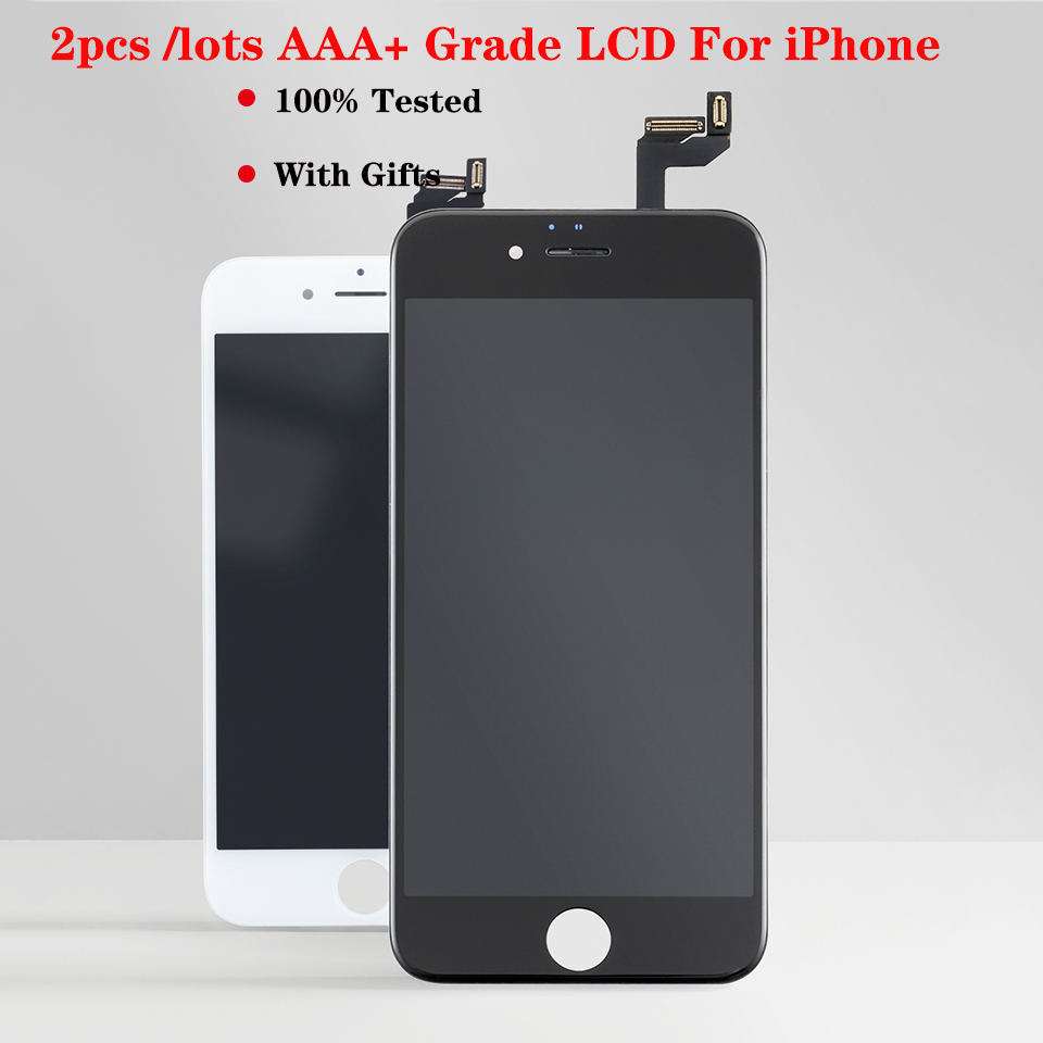 2pcs/lot AAA+ <font><b>LCD</b></font> for <font><b>iPhone</b></font> 5s 6S 6 7 display Touch Screen Digitizer Assembly replacement No dead pixel For <font><b>iPhone</b></font> <font><b>8</b></font> Plus <font><b>ecran</b></font> image