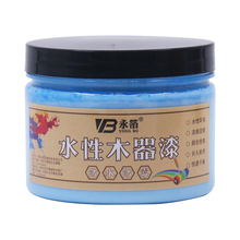 250g Medium Blue Water-based Woodwork Paint Water-proof & Mildew-proof Lacquer for Wood,Fabric,Paper,Canvas,Hand-painted