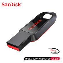 SanDisk-cruzer lecteur stylo USB 2.0 CZ61, 16 go, 32 go, 64 go, 128 go, clé Flash 2.0, avec Mac et PC