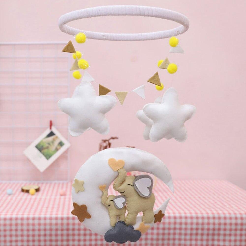 Elephant Bed Bell Toy For Children's Room Home Decor DIY Handcraft Non-Woven Dream Catcher Felt Making Kit Handmade