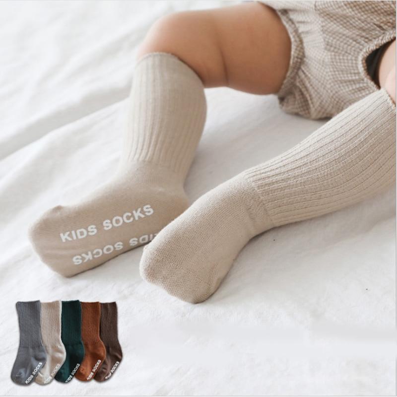 Toddler baby boys girls knee high lace long socks kids infants leg warmer sockP
