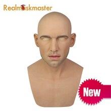 Realmaskmaster, латексная Реалистичная маскарадная силиконовая маска для взрослых, для мужчин, для всего лица, вечерние Вечерние Маски, фетиш, настоящая кожа