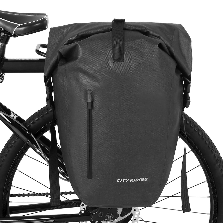 Extensive Large Capacity Bicycle Rear Seat Pannier as Commuter Bag Luggage Carrier Cofit Bike Trunk Bag 25L//68L