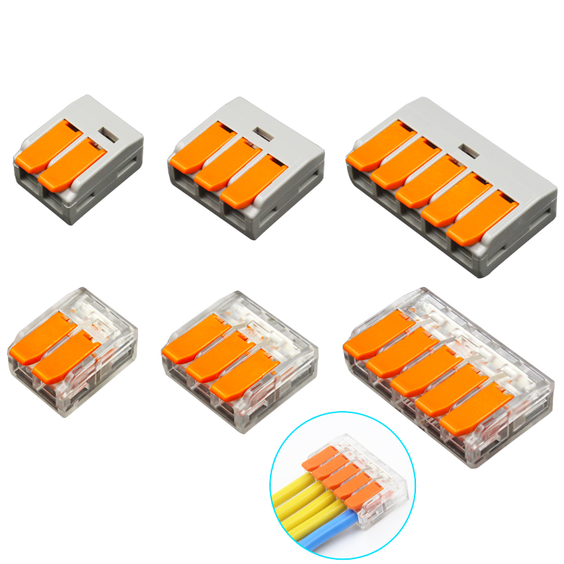 Cable Connector 6mm2 Orange Mini Quick Connector Universal Compact Cable Connector Household Wire Terminal Connector