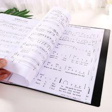 40 страниц A4 размер фортепиано Музыкальная оценка лист документ файл папка хранения Организатор M0XB