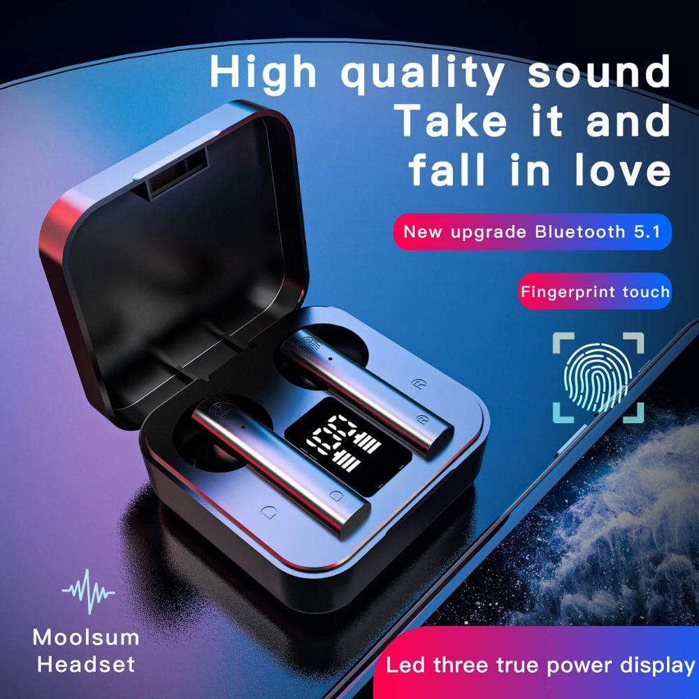 New Wireless Noise Cancelling Headset Bluetooth 5 1 Sports Earphones IP4 Waterproof In-Ear earphone Earbuds For Xiaomi Air2S
