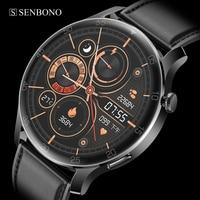 SENBONO-reloj inteligente MAX2 para hombre, pulsera deportiva resistente al agua IP68, 24 modos deportivos, para IOS, Android y Huawei
