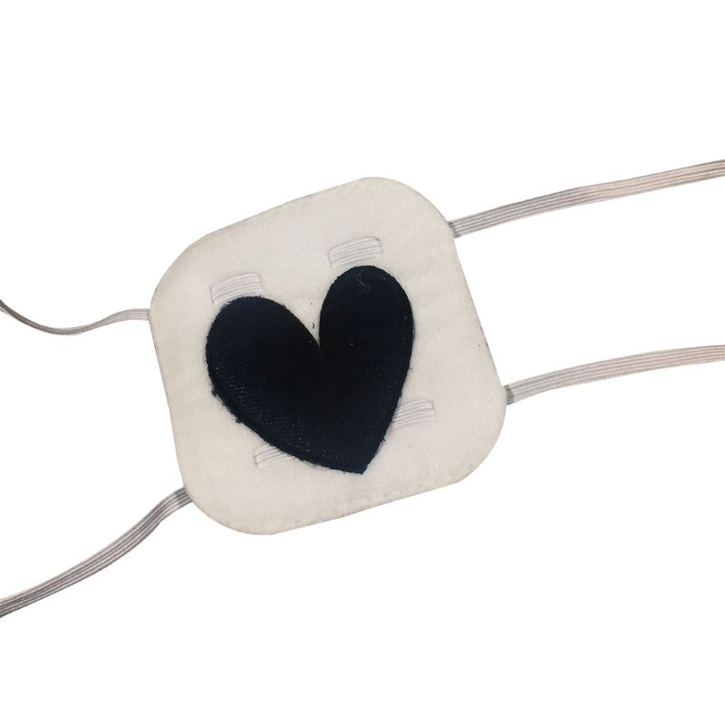 Купить повязка на глаза с вышивкой в форме сердца