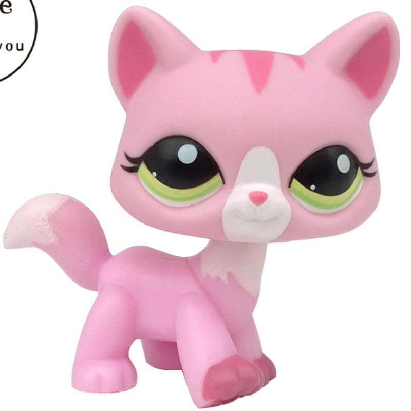 Лпс стоячки кошки Игрушки для кошек lps, редкие подставки, маленькие короткие волосы, котенок, розовый#2291, серый#5, черный#994,, коллекция фигурок для питомцев - Цвет: 1788