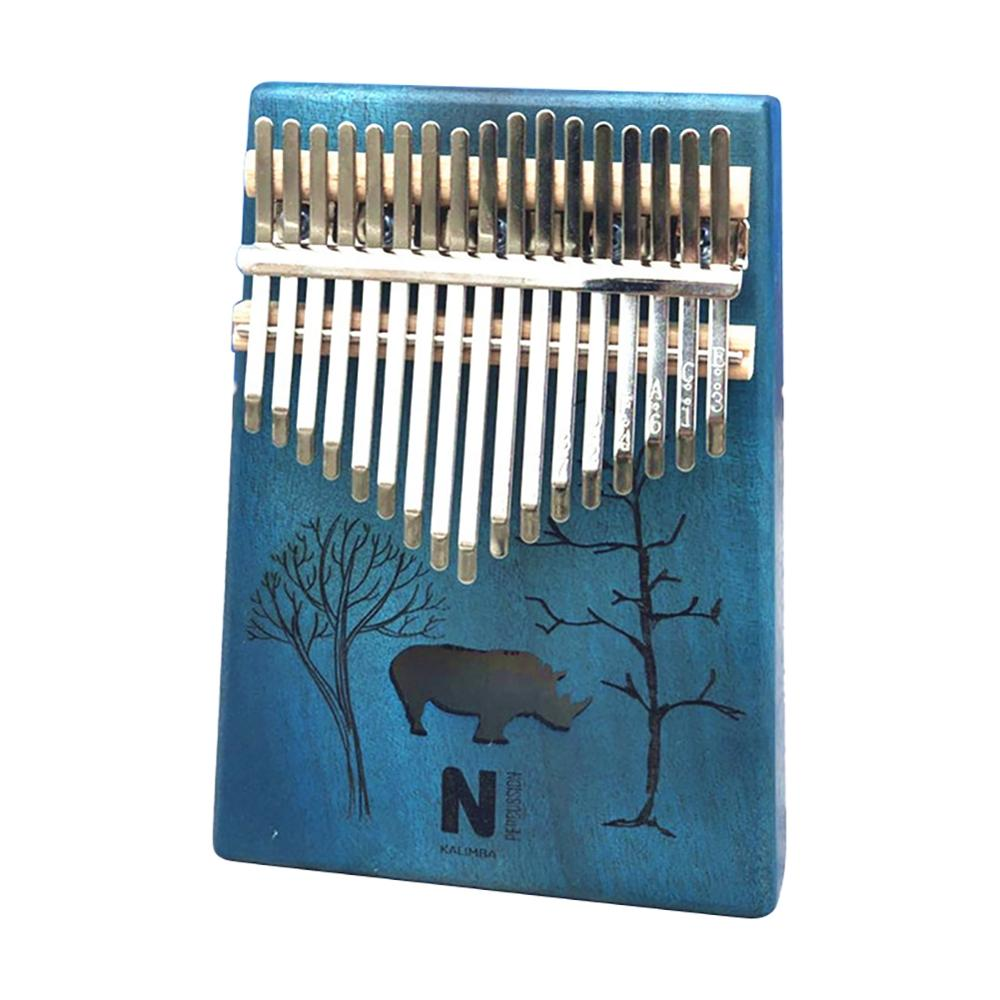 17 Keys Kalimba Thumb Piano High Quality Portable Cartoon Pattern Wooden Mahogany Body Musical Instrument New