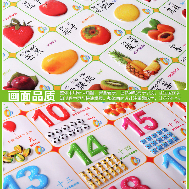 Baby ENLIGHTEN Pronunciation Early Education Young CHILDREN'S Pinyin Cognitive Sound Making 0-3-Year-Old Toy Audio Chart With Pi