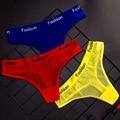 Сексуальное прозрачное нижнее белье в спортивном стиле, женские хлопковые трусики с промежностью, мягкие ажурные трусики, стринги, сексуал...