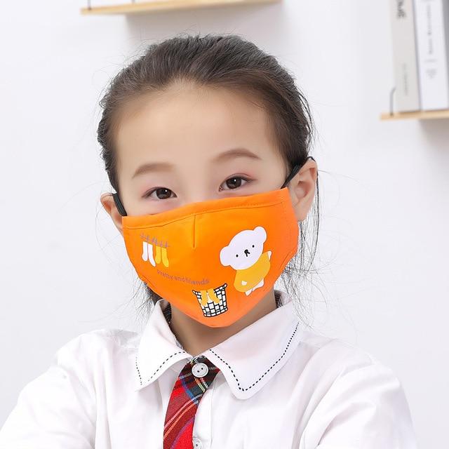 PM2.5 Cotton Kids Mouth Mask Cartoon Bear Anti Dust Face Masks Girls Mouth-Muffle Reusable Bacteria Proof Flu Mask For Children 1