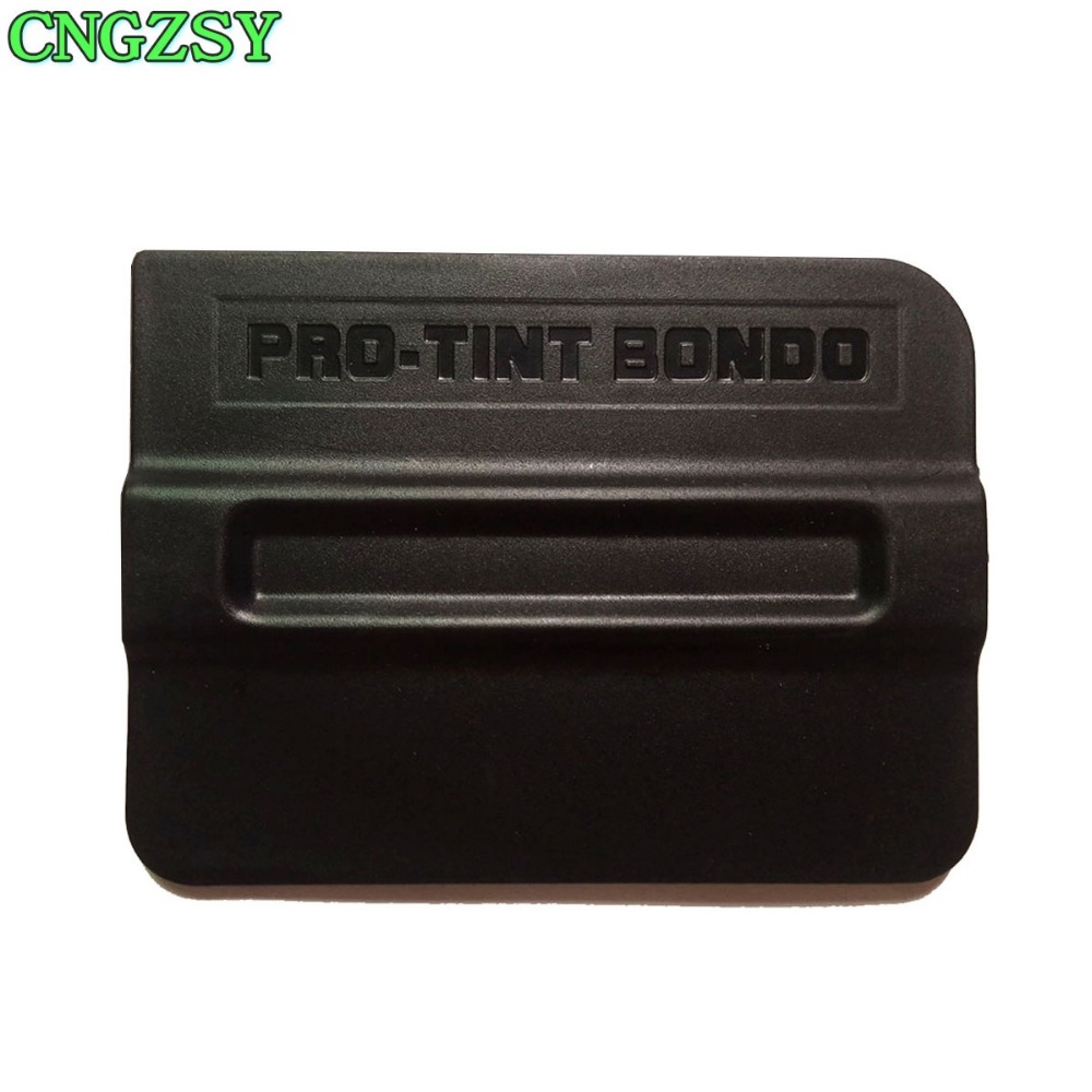 Professional Auto Vinyl Wraps Tool 4 Inch Magnet Squeegee With Micro-Fiber Felt Edge Vinyl Squeegee Plastic Scraper