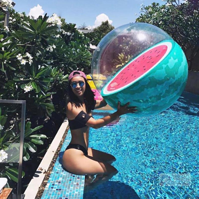 90cm 3D Inflatable Watermelon Orange Shape Beach Party Ball Summer Swimming Pool Water Balloons Beach Sport Ball Fun Float Toys