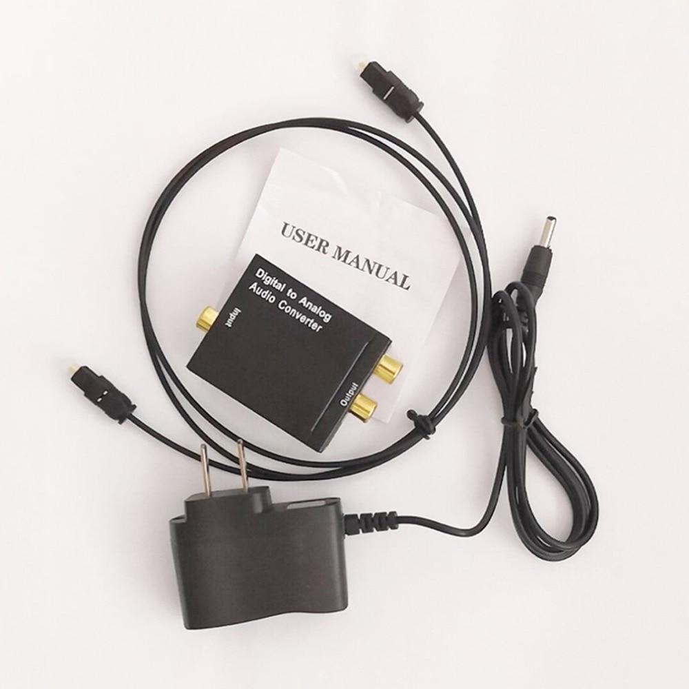 Коаксиальный сигнал Toslink Цифровой оптический в аналоговый аудио конвертер адаптер RCA цифро-аналоговый аудио конвертер EU/US адаптер usb
