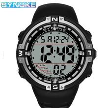 Led Watches SYNOKE Electronic Mens Male Waterproof Relogio Masculino Digital Sport Big-Screen