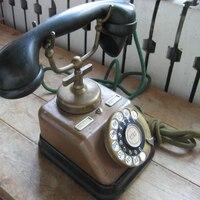 Segunda mão Velho Telefone com Discagem/ /Telefone Antigo/Telefone de vinil|Peças p ar condicionado| |  -