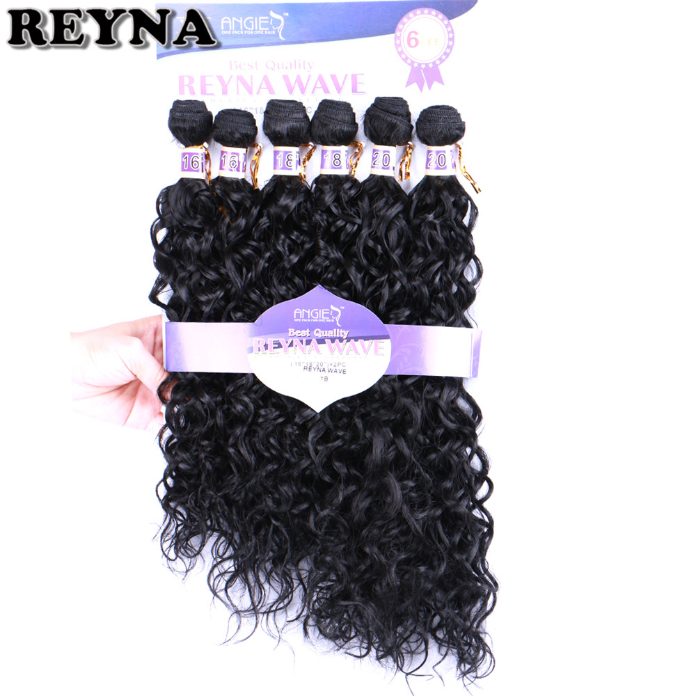 REYNA Water Wave High Temperature Synthetic Hair Extensions Two Tone Ombre Bundles for Women