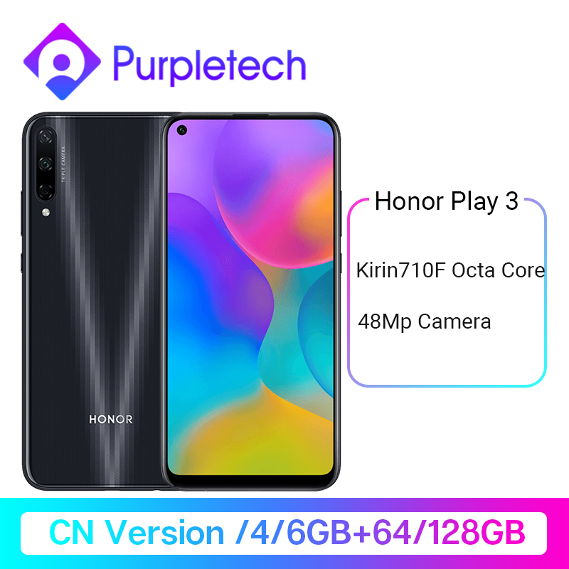 Original Honor Play 3 <font><b>64GB</b></font> 128GB Kirin 710 F Octa Core <font><b>Smartphone</b></font> 48MP AI Triple Cameras 6.39