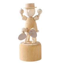Holz Puppen Welpen menschen Unfinished Holz DIY Handwerk Für Farbe Fleck Ornament Dekorationen Baby Kinder Handgemachte pädagogisches spielzeug cheap CN (Herkunft) Unisex 5-7 Years 776716 None Geschöpf-Blöcke piece