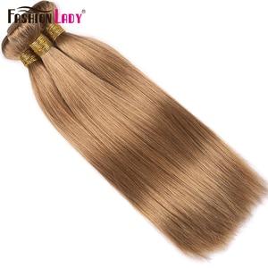Image 5 - Fashion Lady Pre Colored Brazilian Straight Hair Extension Human Hair #27 Blonde Bundle Deals 3/4 Bundle Per Pack Non Remy