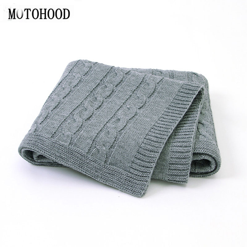 MOTOHOOD Baby Blanket Knitted Woolen Newborn Blankets Super Soft Wrap Infant Swaddle Kids Stuff For Monthly Toddler Bedding