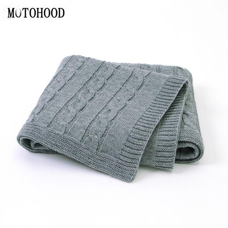 MOTOHOOD Baby Blanket Knitted Woolen Newborn Blankets Super Soft Wrap Infant Swaddle Kids Stuff For Monthly Toddler Bedding