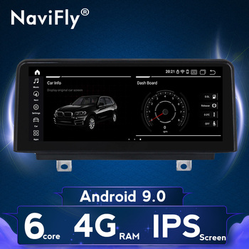 NaviFly 4+64G Android 9 IPS screen Car Radio Dvd Navigation for BMW X5 F15 X6 F16 2014 - 2017 NBT Car Head Unit Multimedia image