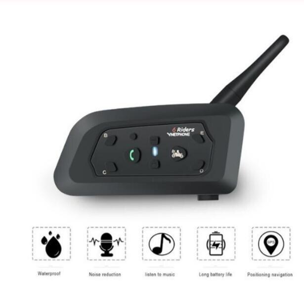 Motorrad Gegensprechanlage Helm-Headset Motorrad Reiter Wasserdichte Drahtlose Bluetooth Intercom Moto Headset Sprech