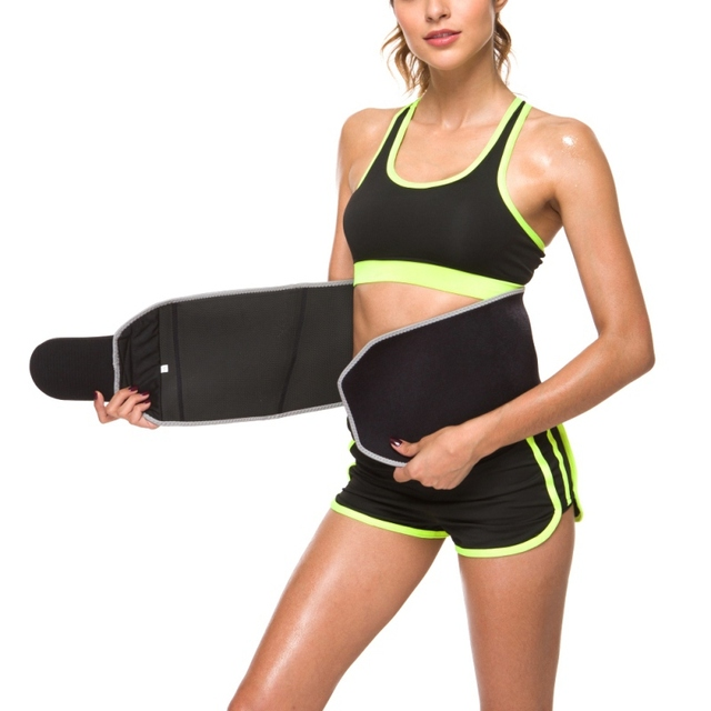 Women Beauty Waist Support Adjustable Waist Trimmer Belt Sweat Wrap Tummy Stomach Weight Loss Fat Slimming Exercise Belly Body