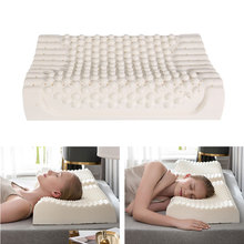 Pure Natural Latex Orthopedic Pillows Thailand Remedial Neck Sleep Pillow Protect Vertebrae Health Care Bedding Cervical